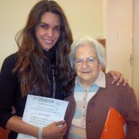 Elsa with Anna Tardos receiving Pikler trainer certificate