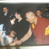 With His Holines, Dalai lama, 2000