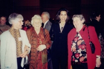 Elsa with Katalin Hevesi, Dr Myriam David and Geneviev Appell