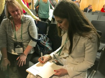 Book signing in New Zealand.