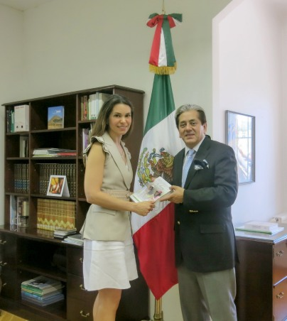 Elsa with Mexico Ambassador to Hungary.